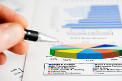Stock market graphs and charts Stock Photography