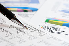 Stock market graphs and charts Stock Image
