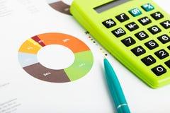 Stock market graphs and charts Stock Photos