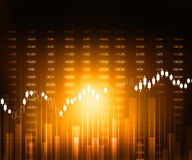 Stock market graphs Royalty Free Stock Images