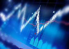 Stock Market Graphs Stock Images