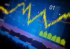 Stock Market Graphs Royalty Free Stock Image