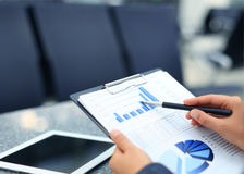 Stock market graphs monitoring Royalty Free Stock Photography