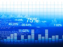 Stock market graphs. Business chart Royalty Free Stock Image