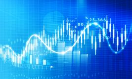 Stock market growth chart stock illustration