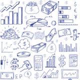 Stock market had drawn symbols Royalty Free Stock Image