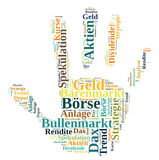 Stock market. Hand word cloud Stock Photo