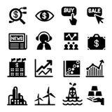 Stock market icon set. Vector illustration. Graphic Design Royalty Free Stock Photo