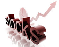 Stock market improving. Stock market estate economy trend concept illustration improving upwards Stock Photography