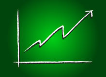 Stock market increase green Stock Images
