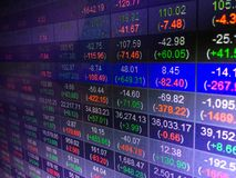 Stock market display board concept background Royalty Free Stock Photography