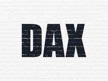 Stock market indexes concept: DAX on wall background stock photo
