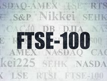 Stock market indexes concept: FTSE-100 on Digital Data Paper background. Stock market indexes concept: Painted black text FTSE-100 on Digital Data Paper Vector Illustration