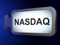 Stock market indexes concept: NASDAQ on billboard background Stock Photography