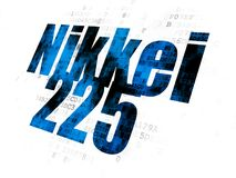 Stock market indexes concept: Nikkei 225 on Digital background Royalty Free Stock Images