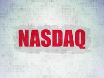 Stock market indexes concept: NASDAQ on Digital Data Paper background Stock Images