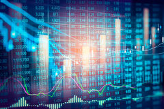 Stock market indicator and financial data view from LED. Double Stock Image