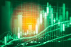 Stock market indicator and financial data view from LED. Double Royalty Free Stock Photos