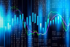Stock market indicator and financial data view from LED. Double. Exposure  financial graph and stock indicator including stock education or marketing analysis Royalty Free Stock Images