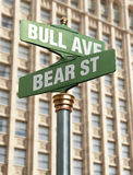 Stock Market Intersection Stock Image