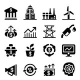 Stock market & Investment icons Royalty Free Stock Photo