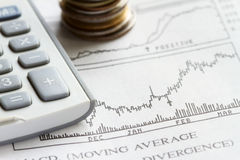 Stock market investment Royalty Free Stock Images