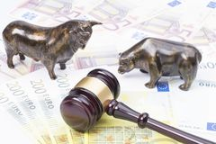 Stock market law stock image