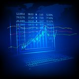 Stock Market Listing. Illustration of graph and number showing stock market listing Royalty Free Stock Photo