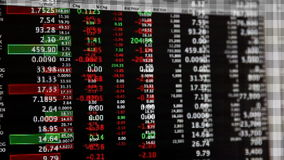 Stock Market Live Quotes Streaming Financial Data stock video footage