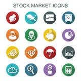 Stock market long shadow icons Royalty Free Stock Photos