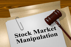 Stock Market Manipulation - legal concept Royalty Free Stock Photos