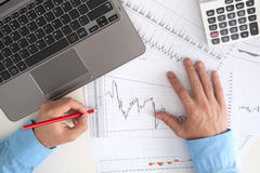 Stock market monitoring Stock Image