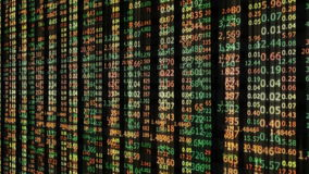 Stock market number background stock footage