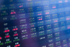 Stock market number Royalty Free Stock Photography