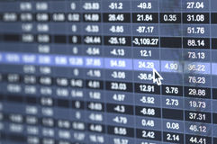 Stock market number Stock Image