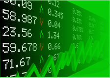 Stock market with numbers Royalty Free Stock Photo