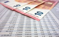 Stock market numbers Royalty Free Stock Photography