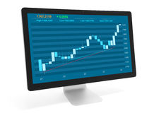 Stock market online concept Royalty Free Stock Images