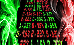 Stock market price. S in the smoke Stock Images