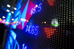 Stock market price display. Abstract Stock Photo