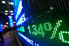 Stock market price display. Abstract Stock Images