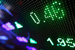 Stock market price display abstract. Stock market price on LED display abstract Stock Image