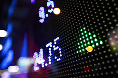 Stock market price display abstract. Stock market price on LED display abstract Stock Photography
