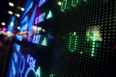 Stock market price display abstract Stock Images