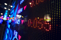 Stock market price display abstract. Stock market price on LED display Stock Image