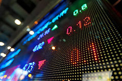Stock market price display abstract. Stock market price on LED display Stock Photography