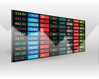 Stock market price display background Stock Illustration