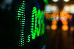 Stock market price display Stock Image