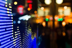 Stock market price display. Hong Kong stock market price display at street in the night Royalty Free Stock Images