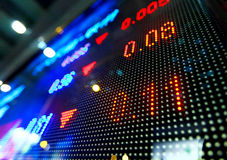Stock market price display. Screen Royalty Free Stock Photography
